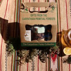 """мед карпатський настойка калганівки  трав'яний чай """"Карпатське асорті"""",  трав'яний чай «Сколівський»,  фруктовий чай «Плоди дикоросів»"""