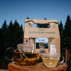 трав'яний чай «Бескид», трав'яний чай «Бадьорого ранку», трав'яний чай «Подих Карпат», фруктовий чай «Плоди дикоросів»